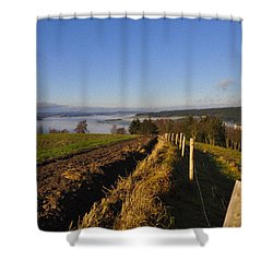 Plowed Field Shower Curtain by Aged Pixel