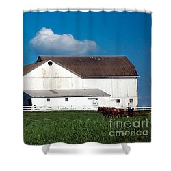 Shower Curtain featuring the photograph Plowing The Field by Gena Weiser