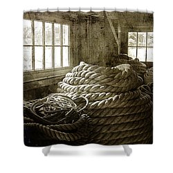 Plymouth Cordage Company Ropewalk Shower Curtain