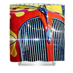Plymouth Oldie Shower Curtain by Aaron Berg