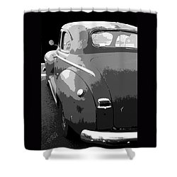 Plymouth The Car Shower Curtain by Ben and Raisa Gertsberg