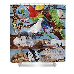 Pocket Pets Shower Curtain by Debbie LaFrance