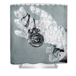 Pocket Watch Shower Curtain by Joana Kruse