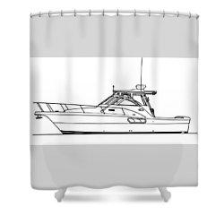 Pocket Yacht Profile Shower Curtain by Jack Pumphrey