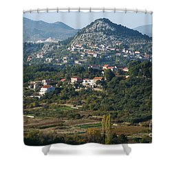 Shower Curtain featuring the photograph Podgrade - Cetina Valley - Croatia by Phil Banks