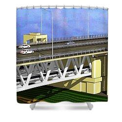 Podilsky Bridge Shower Curtain