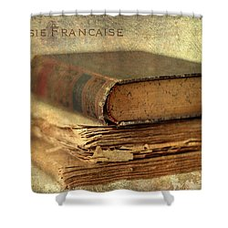 Poesie Francaise Shower Curtain by Jessica Jenney