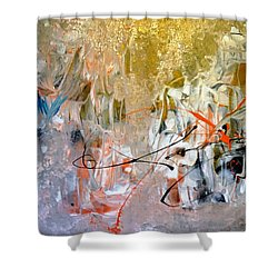 Poetry Shower Curtain by Lisa Kaiser