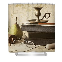 Poet's Corner Shower Curtain by Amy Weiss
