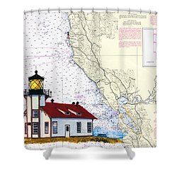 Point Cabrillo Light Station Shower Curtain by Mike Robles