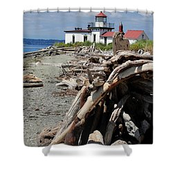 Shower Curtain featuring the photograph Point In View by Natalie Ortiz