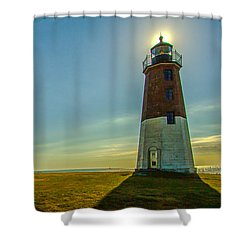 Point Judith Light Shower Curtain