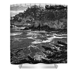 Shower Curtain featuring the photograph Point Lobo  by Ron White
