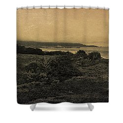 Point Lobos - An Antique Take Shower Curtain by Angela A Stanton