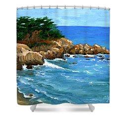 Point Lobos Coast Shower Curtain