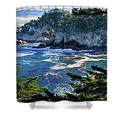 Point Lobos Shower Curtain by Ron White