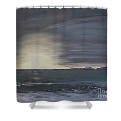 Point Mugu Sunset Shower Curtain