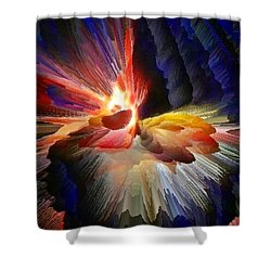 Point Of Impact - Abstract Dancers Shower Curtain