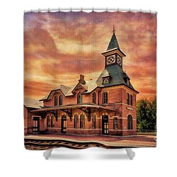 Point Of Rocks Train Station  Shower Curtain by Lois Bryan