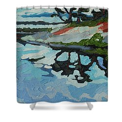 Point Paradise Shower Curtain by Phil Chadwick