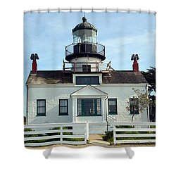 Point Pinos Lighthouse Shower Curtain by Barbara Snyder