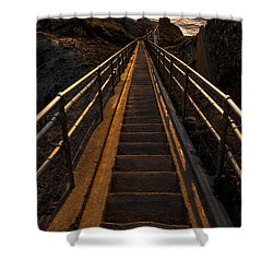 Point Reyes Lighthouse Staircase Shower Curtain