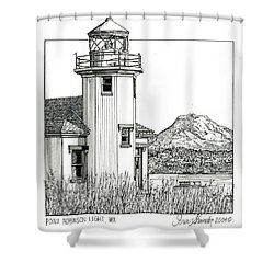 Point Robinson Light Shower Curtain by Ira Shander