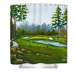 Point South #5 Shower Curtain
