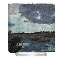 Pointe Aux Chein Blue Skies Shower Curtain