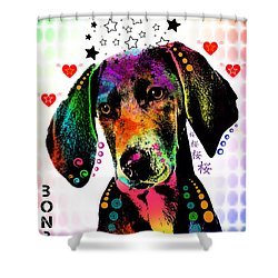 Pointer Shower Curtain by Mark Ashkenazi