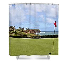 Poipu Bay #16 Shower Curtain by Scott Pellegrin