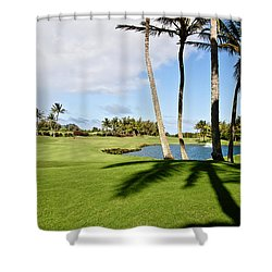 Poipu Bay #18 Shower Curtain by Scott Pellegrin