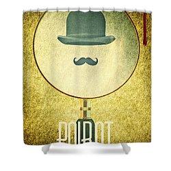 Poirot Shower Curtain