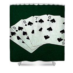 Poker Hands - Straight Flush 1 Shower Curtain