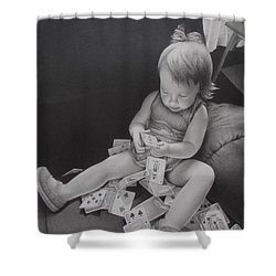 Pokerface Shower Curtain by Pamela Clements
