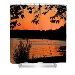 Pole Ready Shower Curtain by Dave Files