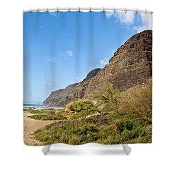 Polihale Beach Shower Curtain by Scott Pellegrin