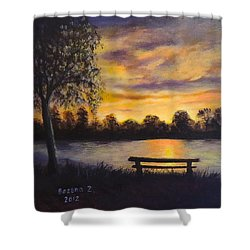 Polish Sunset Shower Curtain