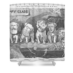 Political Puppy Class Shower Curtain by Konni Jensen