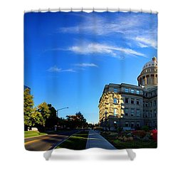 Shower Curtain featuring the photograph Political Warping by David Andersen