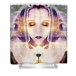 Shower Curtain featuring the photograph Pollen From The Light Flower by Heather King