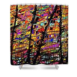 Pollock Updated Shower Curtain