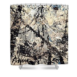 Pollock's Name On Lavendar Mist Shower Curtain