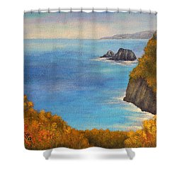 Pololu Valley Lookout Shower Curtain by Pamela Allegretto