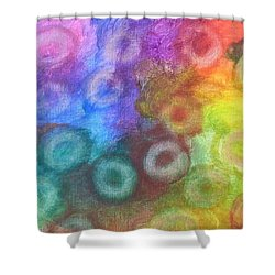 Polychromatic Rbc's Shower Curtain