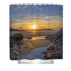 Polzeath Sunset Shower Curtain