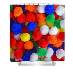 Pom Poms Shower Curtain