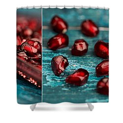 Pomegranate Collage Shower Curtain