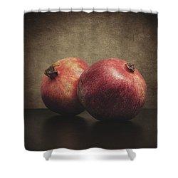 Pomegranate Shower Curtain by Taylan Apukovska