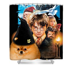 Pomeranian Art Canvas Print - Harry Potter Movie Poster Shower Curtain